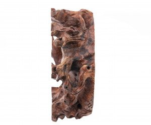 A Vintage Chinese Natural Form Burl Wood Carved Vase Stand