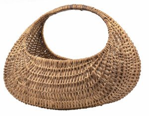 An Antique American Primitive Reed Basket