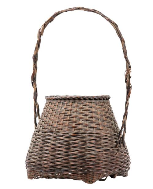 A Taisho-Showa Period Japanese Handwoven Ikebana Basket