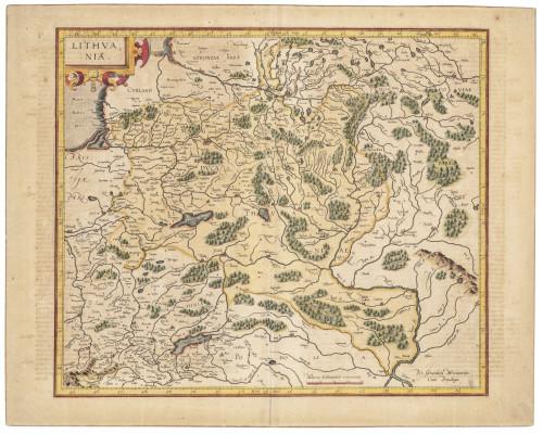 An Antique 17th-18th Century European Map of Lithvania