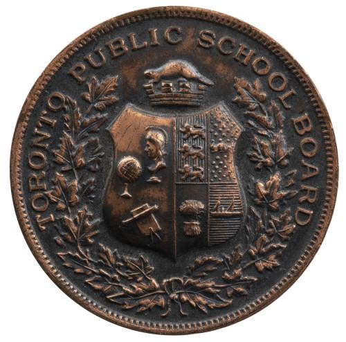 Toronto Public School Board 4 Years Good Conduct Antique Medal