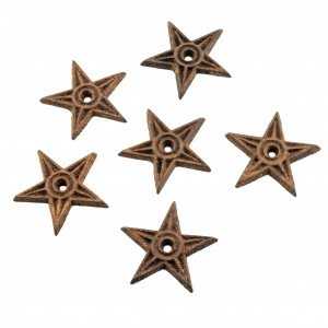 antique hardware American cast iron stars