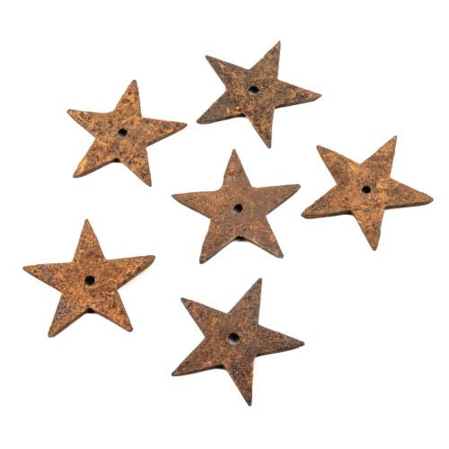 Six Antique Hardware American Cast Iron Stars