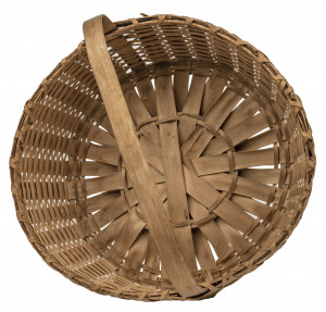 A Vintage Signed American Primitive Country Hand Woven Basket