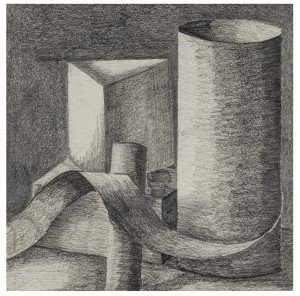 A Graphite Pencil Still-life Study Drawing By John Roos
