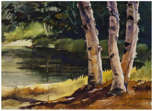 A Vintage New Hampshire Landscape By John Fabian Carlson 1875-1947