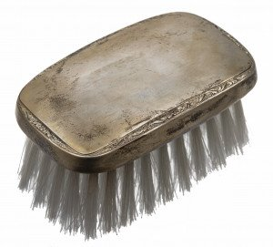An Antique Webster Sterling Silver Table Brush