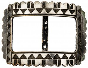 A Vintage French Southwest American Style Belt Buckle L.W. Paris