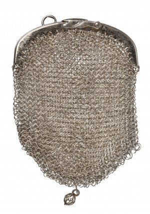 A Vintage Miniature Two Pocket Chain Mail Purse