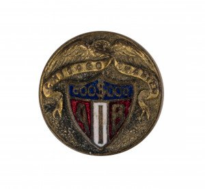 An Antique Brass & Enamel Chicago Chapter 000$000 AIB American Badge Co Button