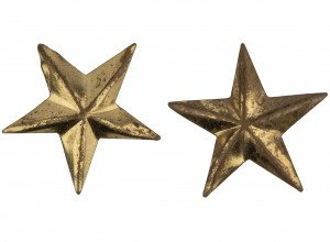 A Pair Of Antique Military General Star Buttons
