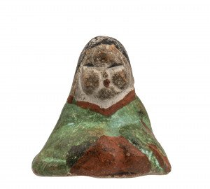 An Early Miniature Japanese Pottery Figure