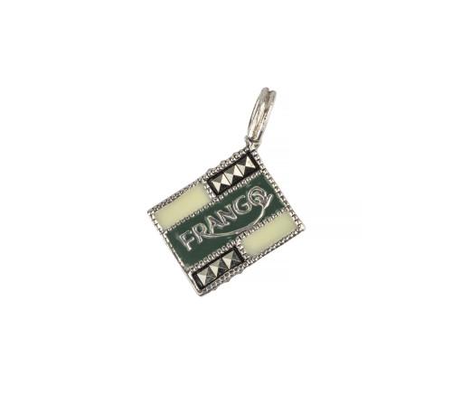 A 925 Sterling Silver Enamel Decorated Frango Mint Box Charm