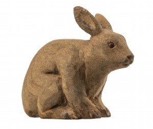 An Antique Wooden Carved Miniature Rabbit