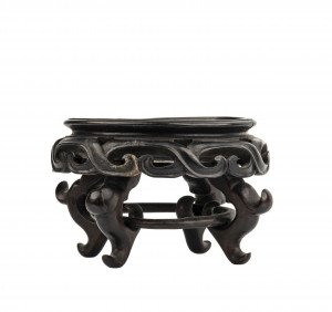 A Vintage Chinese Open Work Carved Wooden Vase Stand