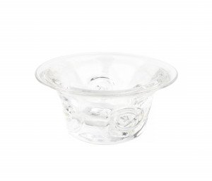 A Vintage Goran Warff For Kosta Scandinavian Clear Glass Bowl