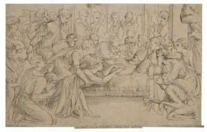 An Antique Etching Dated 1784 Raffaelle Urbinus Gezeignet By Heinrich Sintzenich The Death of Raphael