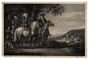 An Antique 19th Century French Equestrian Engraving From Francais Musee After Albert Cuyp