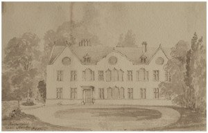 An Antique British School Architectural Drawing Harpsden Near Oxfordshire