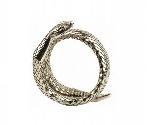 A Vintage Curled Snake Form Wrist Cuff