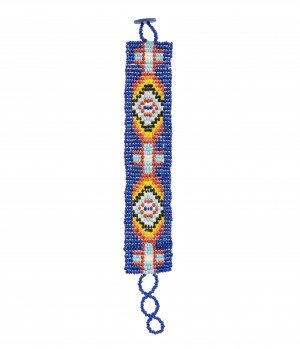 A Vintage Southwest Native American Style Beaded Bracelet