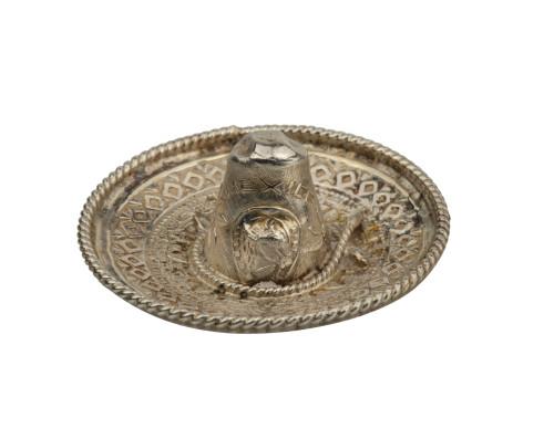 A Vintage Mexican Silver Sombrero Hat Pin