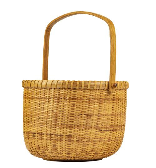 A Vintage Hand-Woven Nantucket Basket