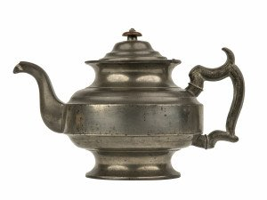 An Antique 19th century Primitive Pewter Teapot