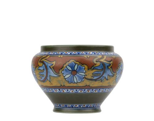 A Vintage Anjer Gouda Holland Art Pottery Vase
