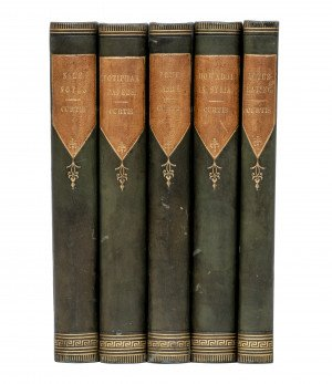 A 19th Century Leather & Gilt Bound Collection of Works By George William Curtis