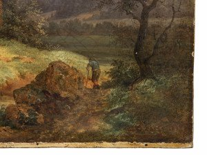 An Antique Landscape Oil Painting By Fredrick Otto Georgi 1819-1874 Dated 1850