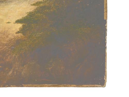 An Antique Landscape Oil Painting By Fredrick Otto Georgi 1819-1874