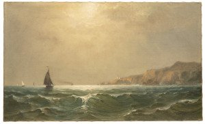 An Antique Seascape Maritime Oil Painting By William Richardson Tyler 1825-1896