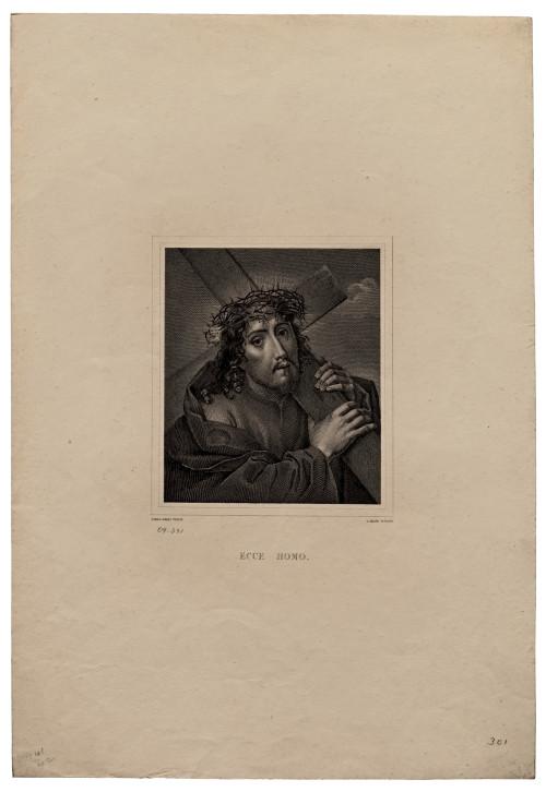 A 19th Century Engraving Ecce Homo. Carlo Dolci Pinxit. C. Heath Sculpsit.