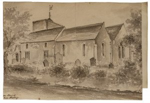 British School 18th/19th Century Architectural Watercolor Study Ore Church Near Hastings England