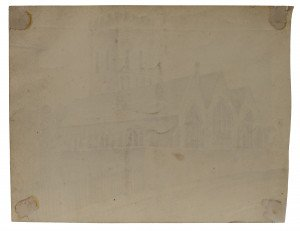 British School 19th Century Architectural Watercolor Study St. Lawrence Ramsgate
