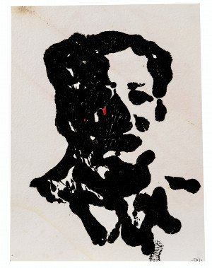 A Vintage Abstract Portrait Painting Mao 2 68'