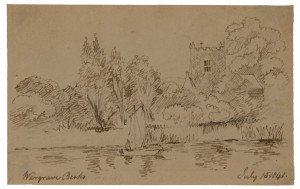 British School  Landscape Study Wargrave Berks July 1841