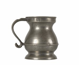 An Antique Pewter 1.2 Pint Measurement Vessel 1826