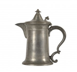 An Antique 19th Century Pewter Teapot
