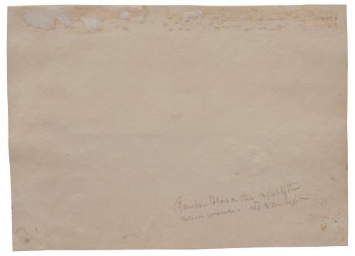 A 19th Century Watercolor Shore Scene Jeire Shore 1863 O.M.R.
