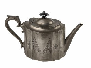 An Antique Victorian Era Walker & Hall Sheffield Teapot