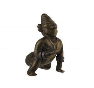 An 18th/19th Century South Indian Cooper Alloy Figure Of Bala Krishna