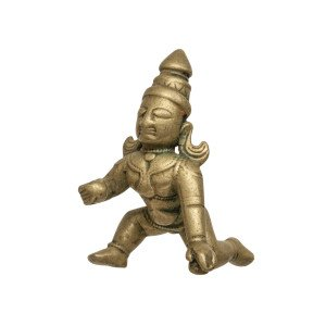 A South Indian Copper Alloy Figure Of Balakrishna 18th/19th Century