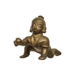 An 18th/19th Century Copper South Indian Alloy Sculpture Of Balakrishna