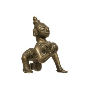 A South Indian Copper Alloy Sculpture Of Balakrishna 19th Century