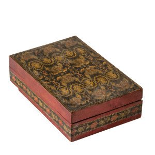 An Antique Victorian English Tunbridge Ware Trinket Box