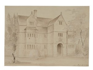 British School An English Manner Watercolor Study Near Rols August 23, 1843