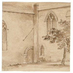 An 18th-19th Century British School Ink Study Drawing Hambleton Church, Berkshire England