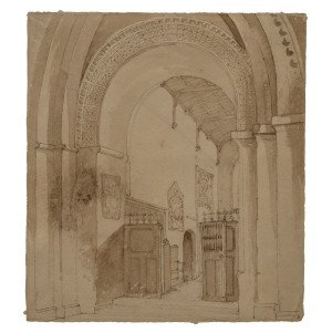 A Late 18th Century Northern European School Interior Scene Drawing